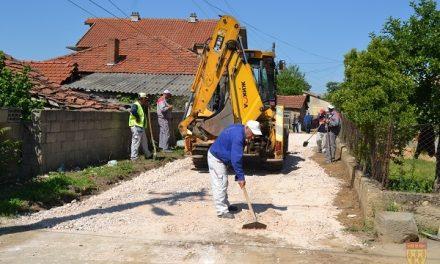 Подготовка за асфалтирање на десетина улици во кочанските села