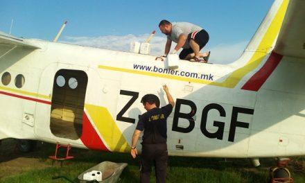 Реализирано авионско прскање против комарци во Кочанско