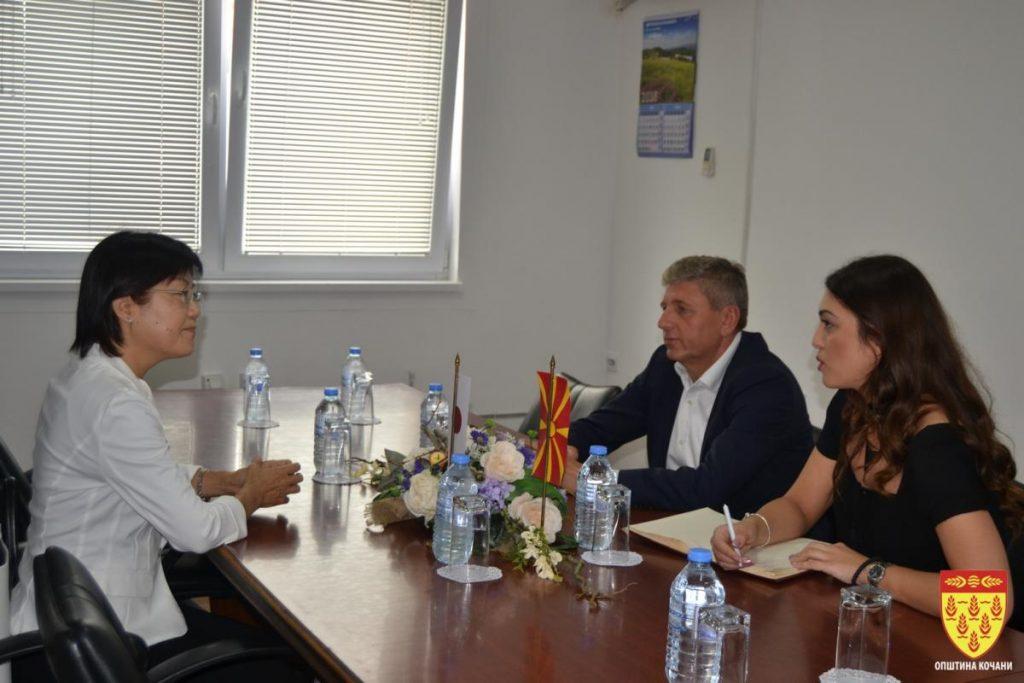 Јапонската амбасадорка Кеико Ханеда на средба со градоначалникот Илијев