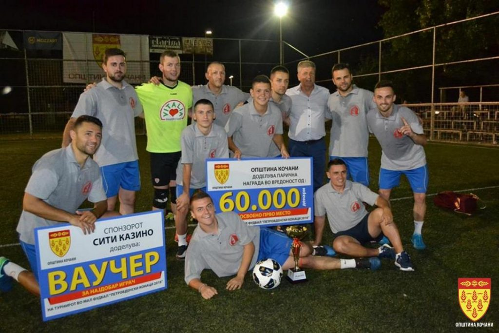 """Екипата на """"Деликатес"""" победник на Петровденскиот турнир во мал фудбал"""