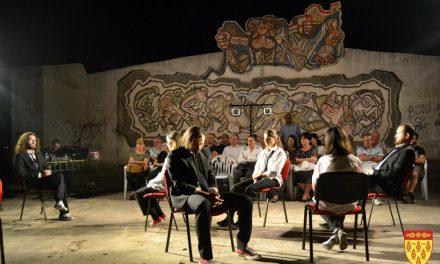 """Претставата """"Солун, град на духови"""" прикажана во неповторливиот амбиент на Споменикот на слободата"""