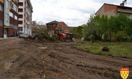 """Пробивање на пристапна улица и изградба на паркинг за зградите на улицата """"Стево Теодосиевски"""""""