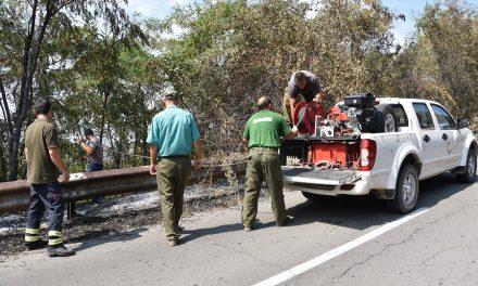 Пожарот на Осоговските Планини е локализиран, екипите остануваат на терен