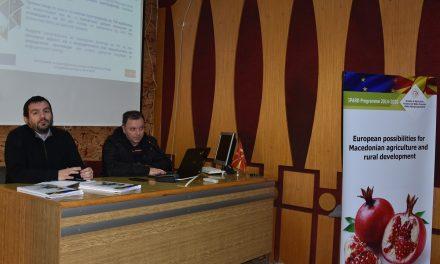 Во Кочани презентирана Мерката 3 од ИПАРД-програмата 2014 – 2020