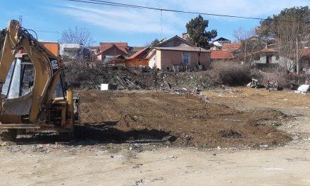 Расчистување на отпадот во населбата Трајаново Трло