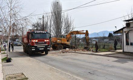 "Урнати четири објекти на улицата ""Стево Теодосиевски"""