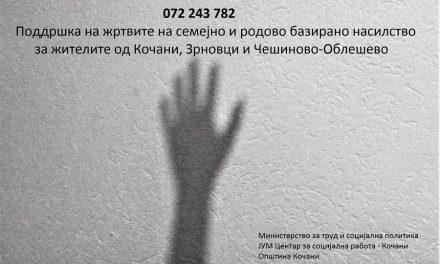 Поддршка за жртвите на семејно и родово базирано насилство