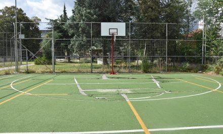 """Почнува реконструкцијата на спортските терени во дворот на СОУ """"Љупчо Сантов"""""""