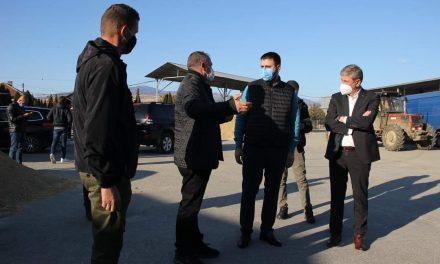 Средба на Градоначалникот на Општина Кочани со министерот за земјоделство, шумарство и водостопанство