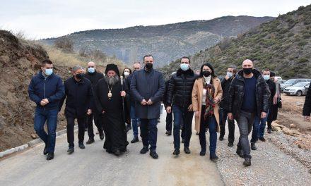 """Пуштен во употреба локалниот пат од Оризари до манастирот """"Пресвета Богородица"""" во Добра Вода"""