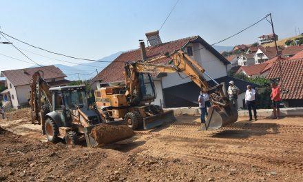 Градежни активности на неколку улици во населбата Усова Чешма